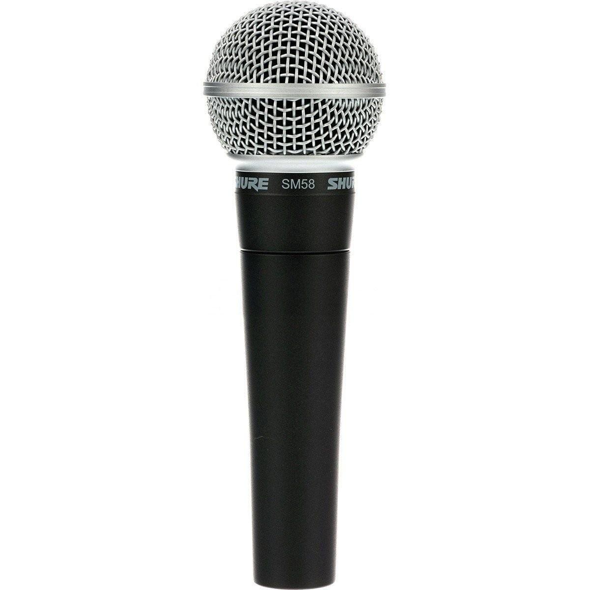 Microfone Vocal SM58 Shure Preto  - Casa do Roadie