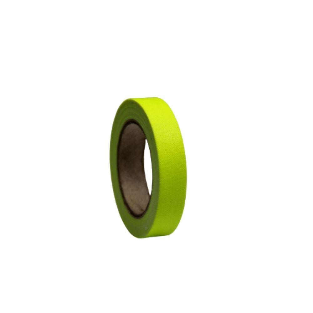 Mini Fita de Tecido Gaffer Tape 12mm X 5m Amarela Fluorescente