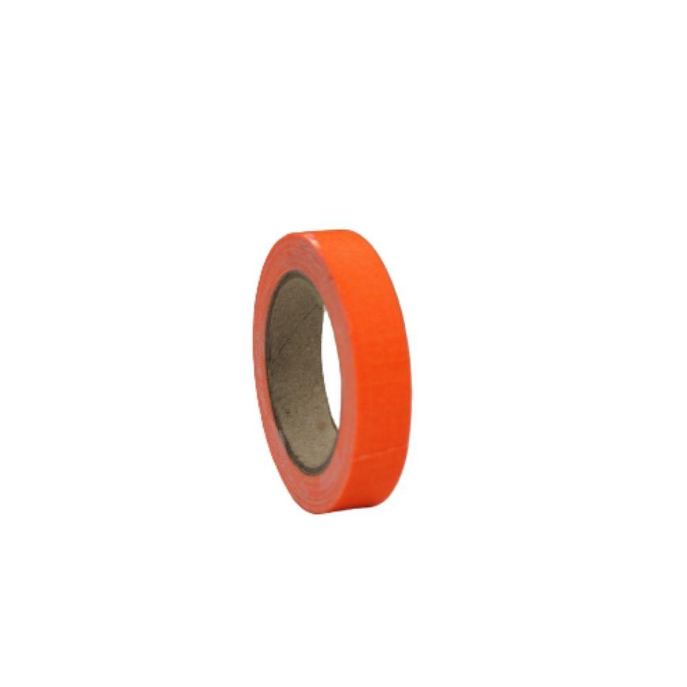 Mini Fita de Tecido Gaffer Tape 12mm X 5m Laranja Fluorescente