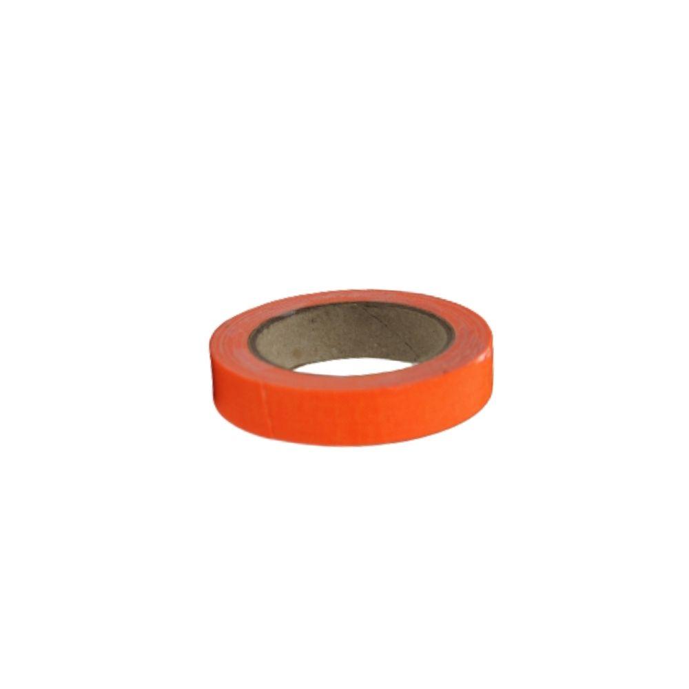 Mini Fita de Tecido Gaffer Tape 12mm X 5m Laranja Fluorescente  - Casa do Roadie
