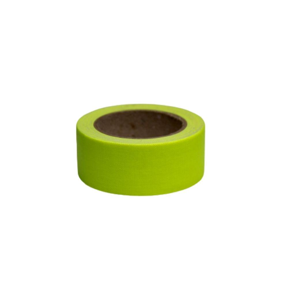 Mini Fita de Tecido Gaffer Tape 24mm X 5m Amarela Fluorescente  - Casa do Roadie