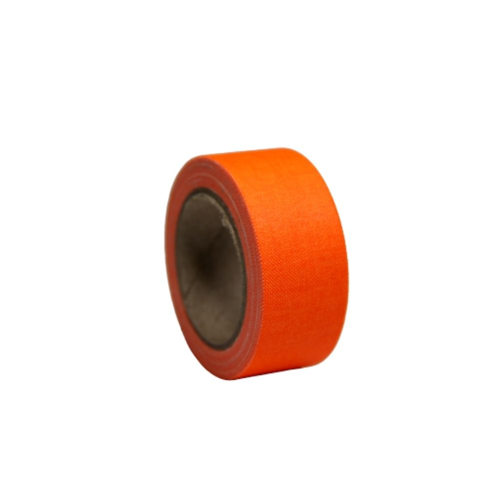Mini Fita de Tecido Gaffer Tape 24mm X 5m Laranja Fluorescente