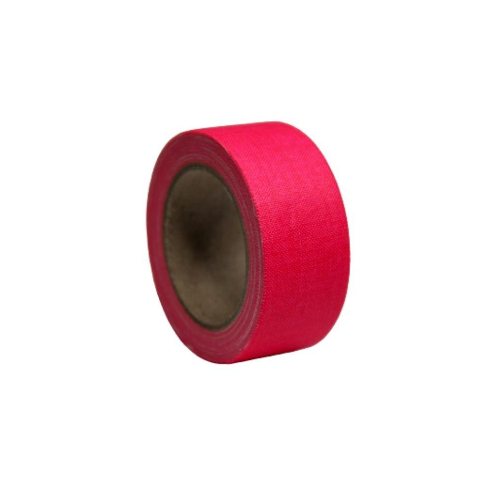 Mini Fita de Tecido Gaffer Tape 24mm X 5m Rosa Fluorescente