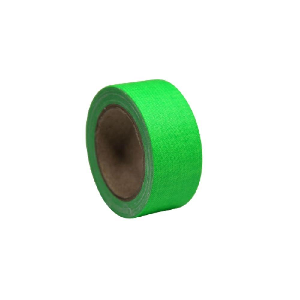 Mini Fita de Tecido Gaffer Tape 24mm X 5m Verde Fluorescente  - Casa do Roadie
