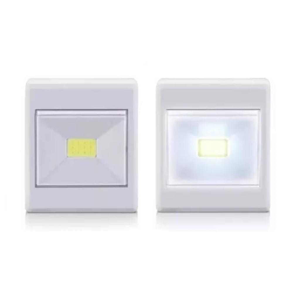 Mini Luminária Quadrada LED de Botão 2W