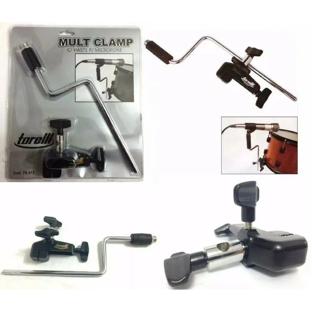 Multi Clamp com Haste para Microfones Torelli  - Casa do Roadie