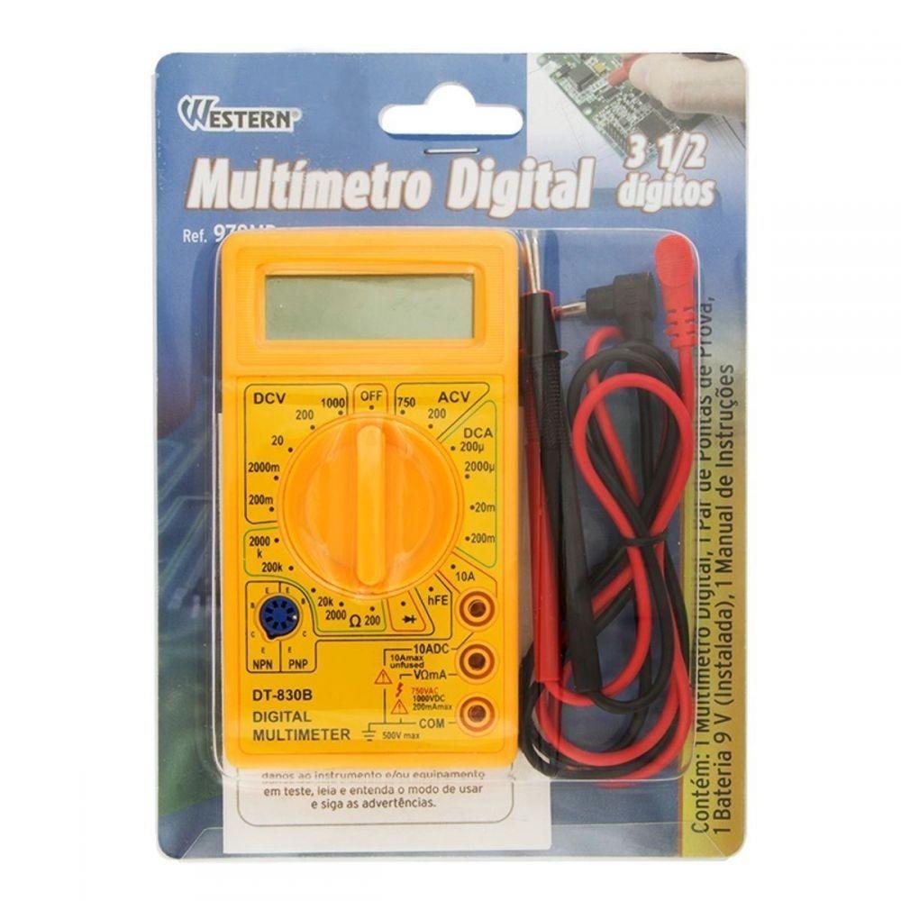 Multímetro Digital Western ref. 978MD  - Casa do Roadie