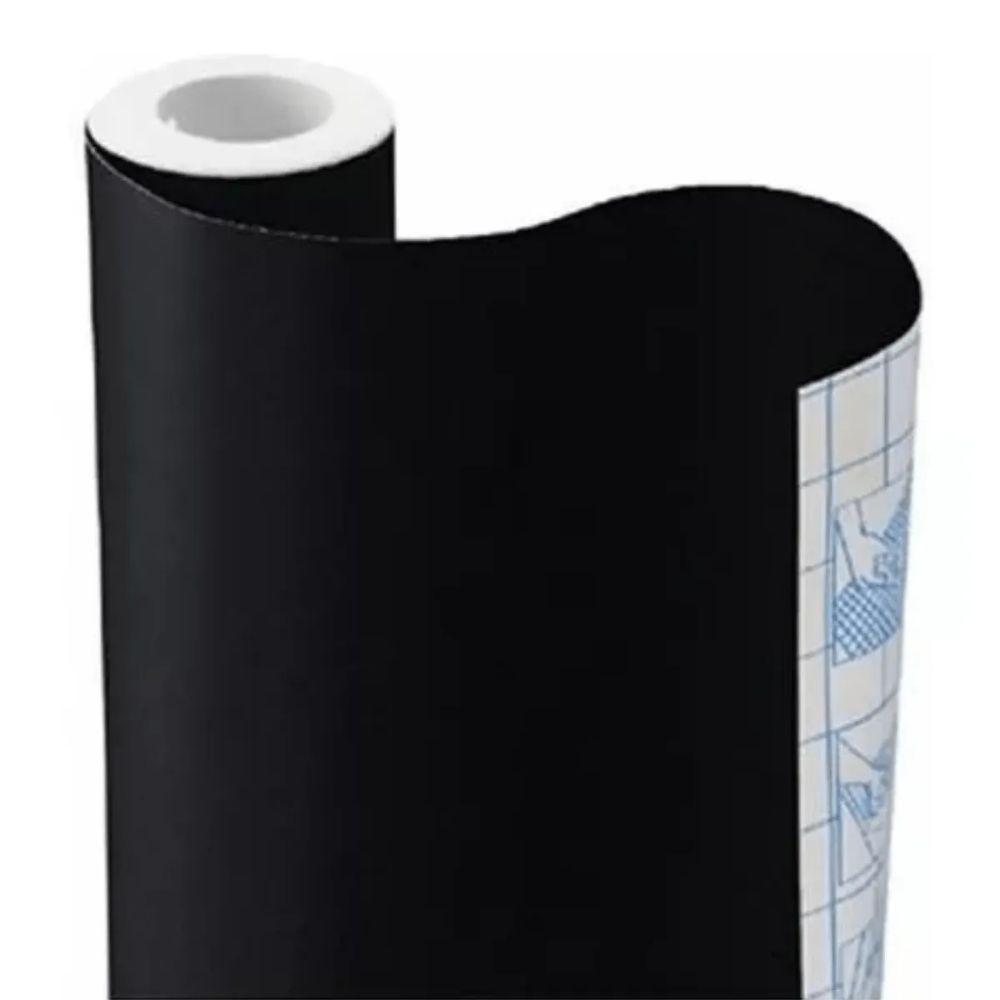 Papel Adesivo Tipo Contact Preto 448mm X 10m  - Casa do Roadie