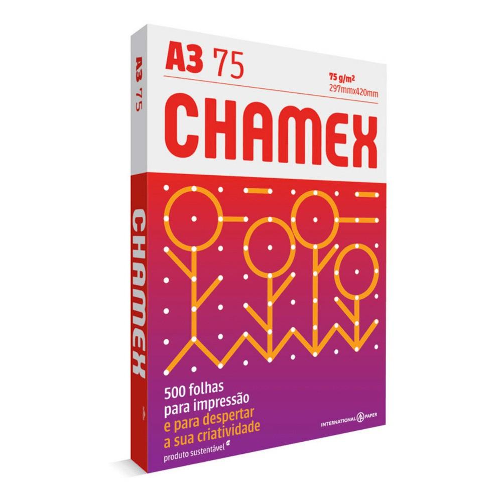 Papel Sulfite A3 Chamex - 500 folhas  - Casa do Roadie