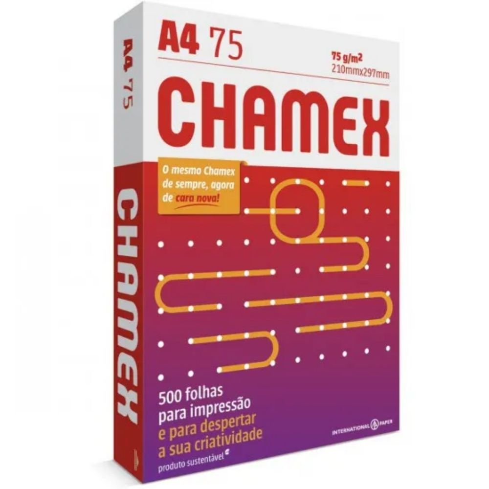 Papel Sulfite A4 Chamex - 500 folhas 75g