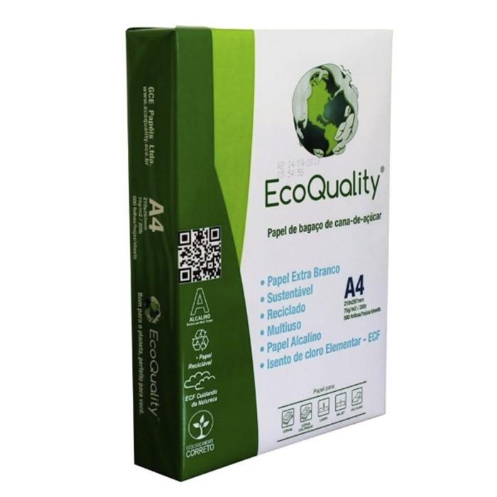 Papel Sulfite A4 EcoQuality Branco - 500 Folhas  - Casa do Roadie
