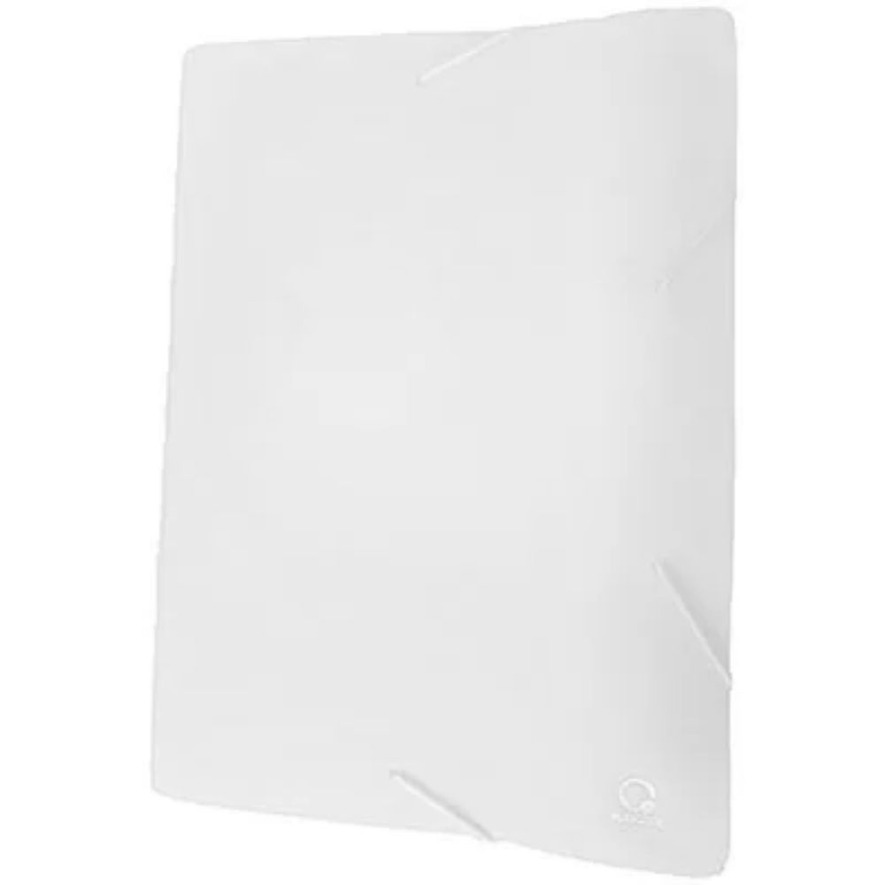 Pasta A4 com aba elástico Branco Plascony