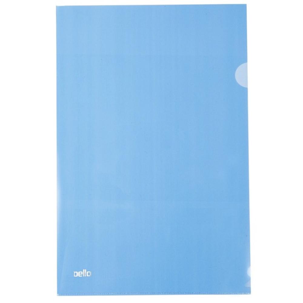 Pasta Plástica Protetora em L para Folhas A4 Azul