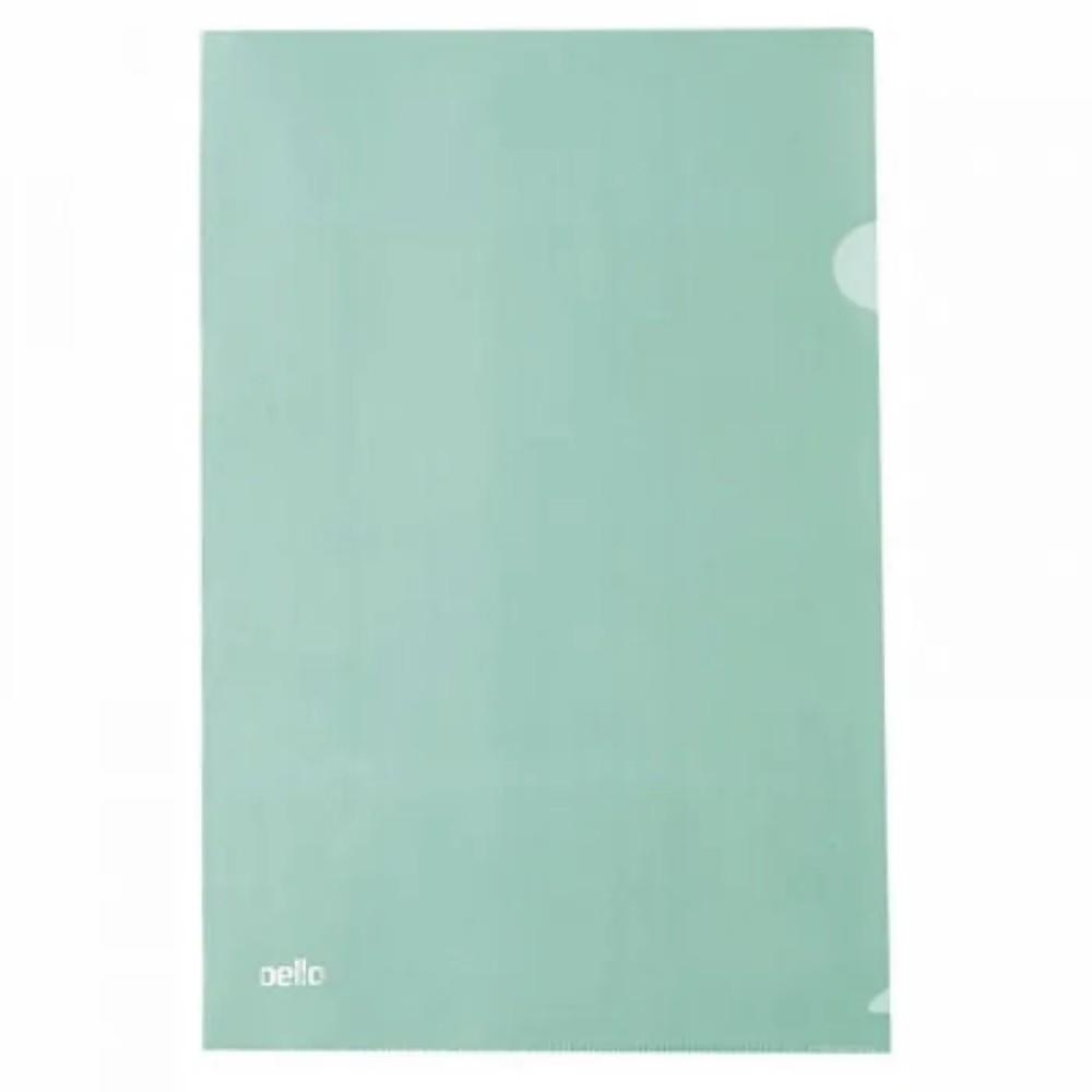 Pasta Plástica Protetora em L para Folhas A4 Verde  - Casa do Roadie