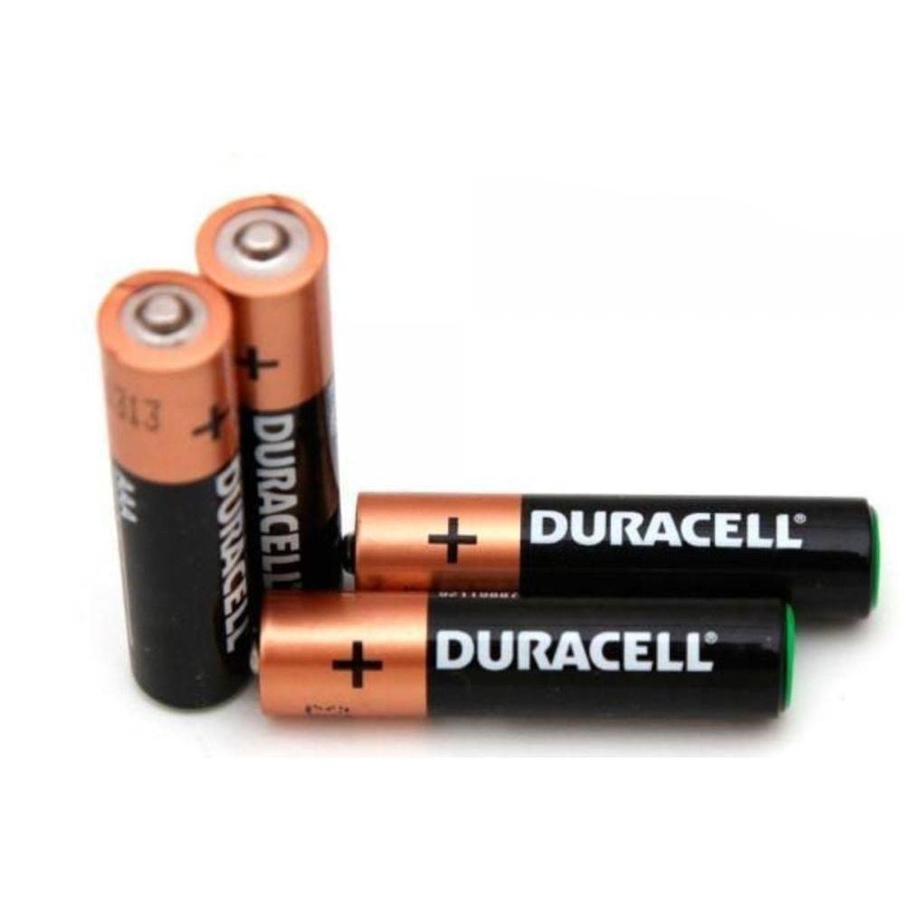 Pilha Alcalina AAA Duracell - 4 unidades