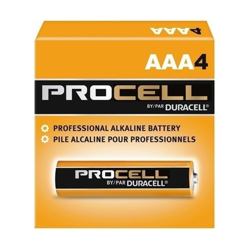 Pilha Alcalina Duracell Procell AAA - Caixa com 4  - Casa do Roadie