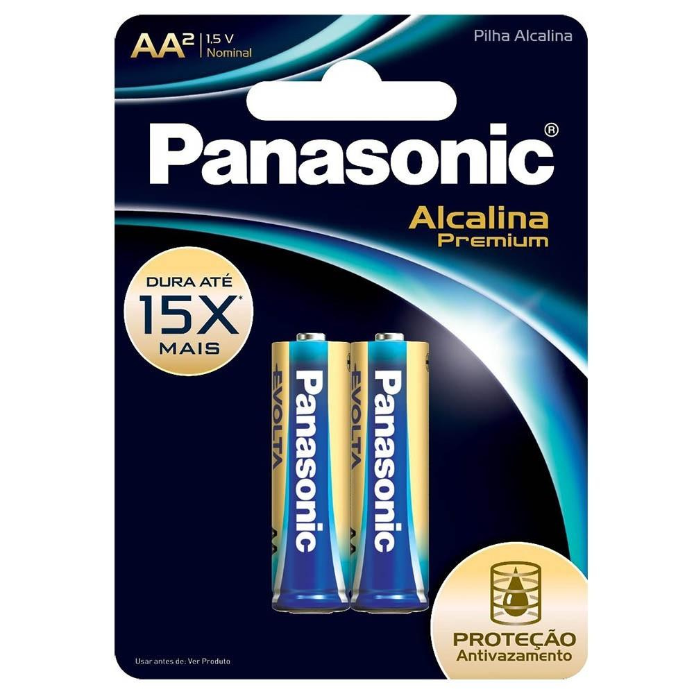 Pilha Premium Panasonic AA - 2 Unidades