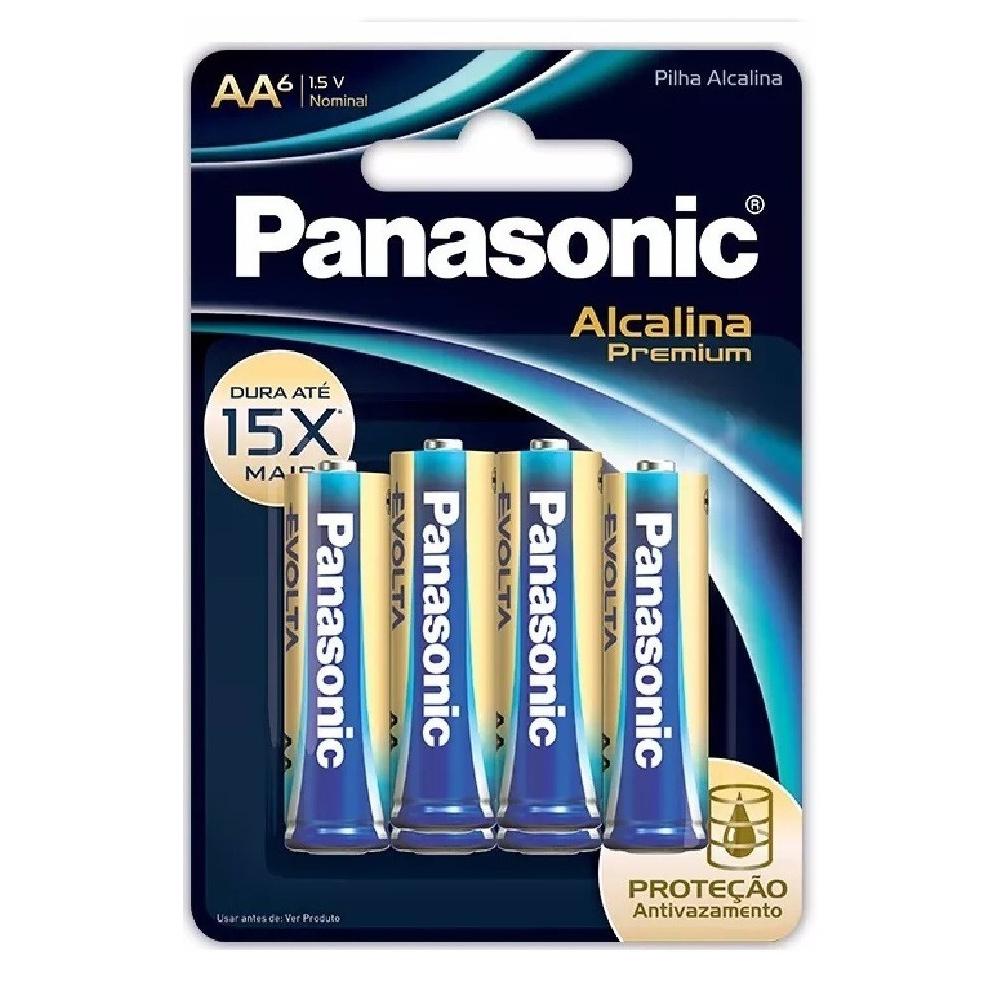 Pilha Premium Panasonic AA - 6 Unidades