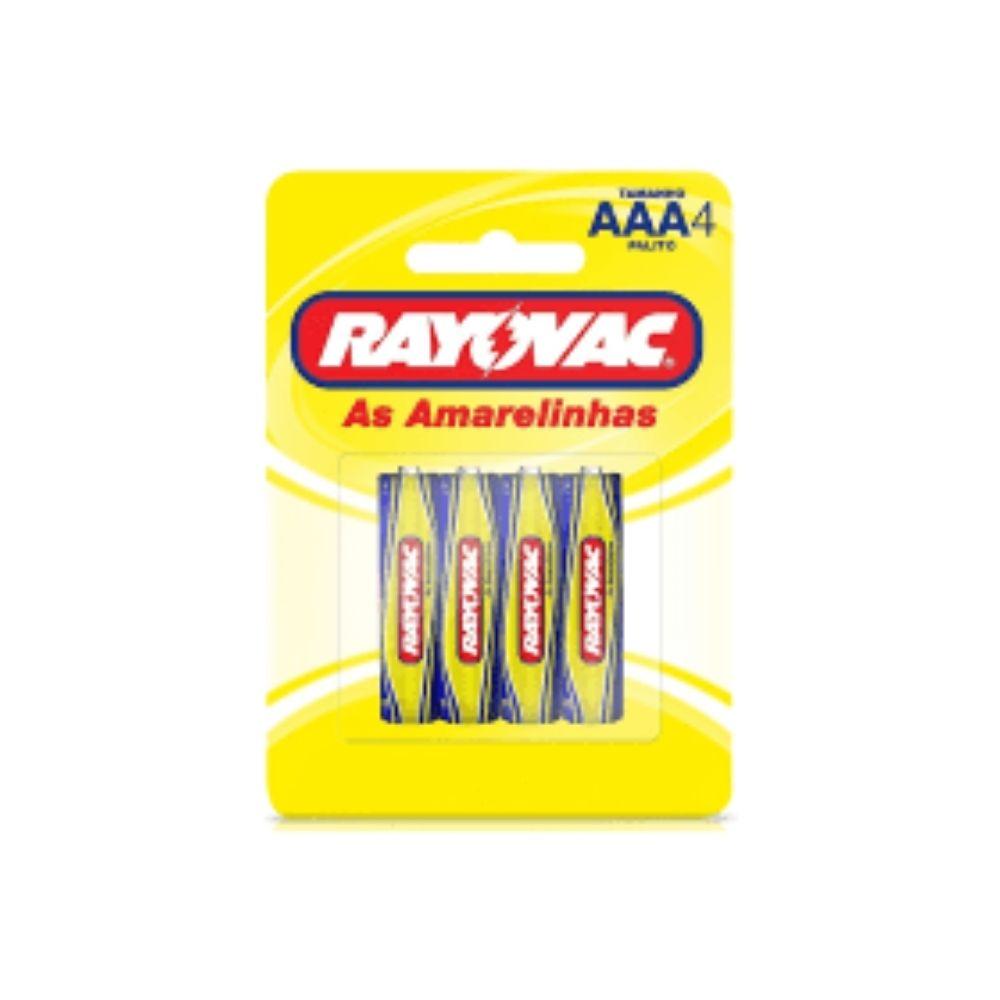 Pilha Rayovac Amarela AAA - 4 unidades