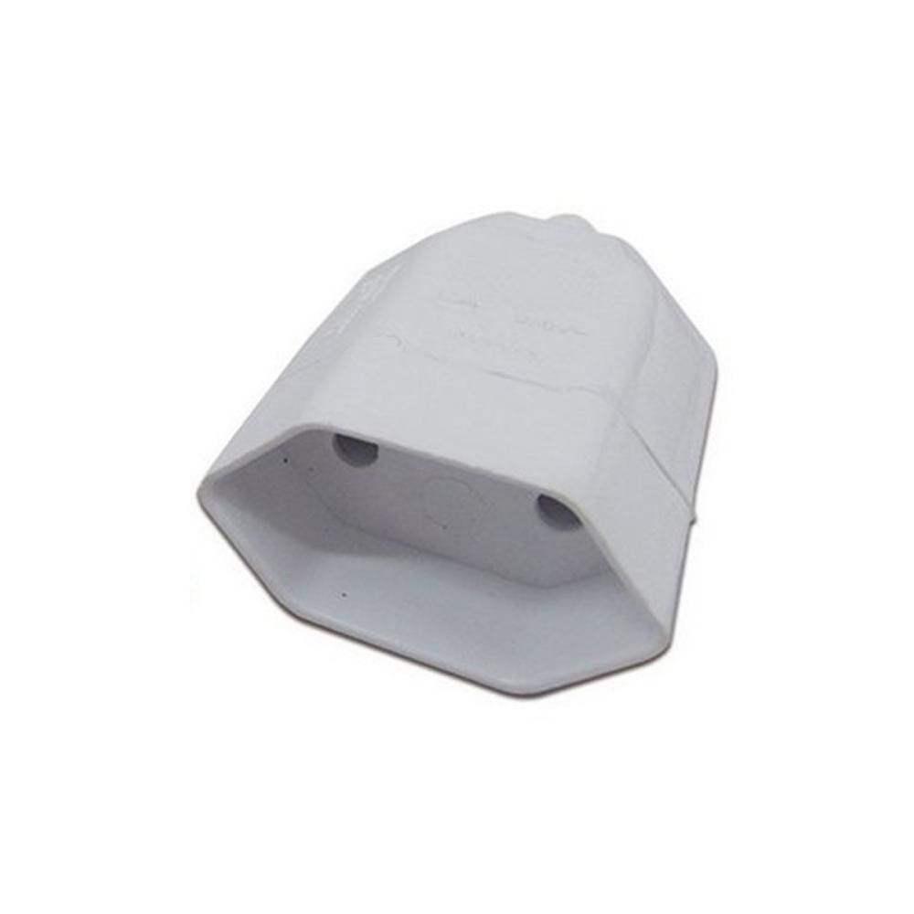 Plug de tomada Fêmea 10A 2Pinos Luster branco  - Casa do Roadie