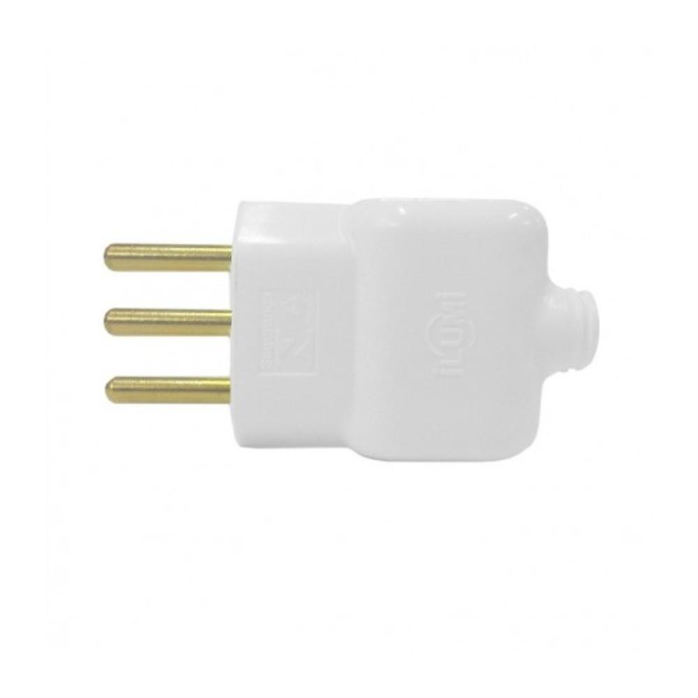 Plug Macho 2P + T 20A Ilumi Branco