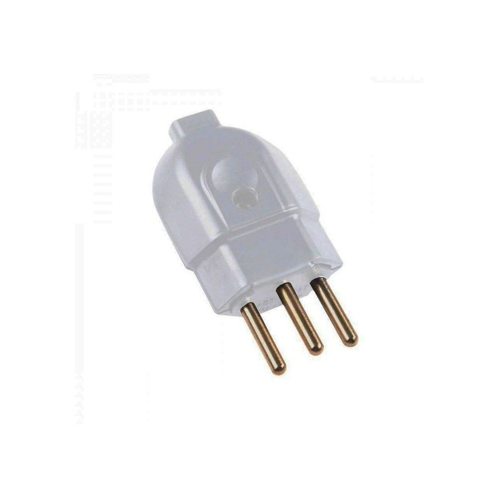 Plug Macho 2P + T 20A Ilumi Cinza  - Casa do Roadie