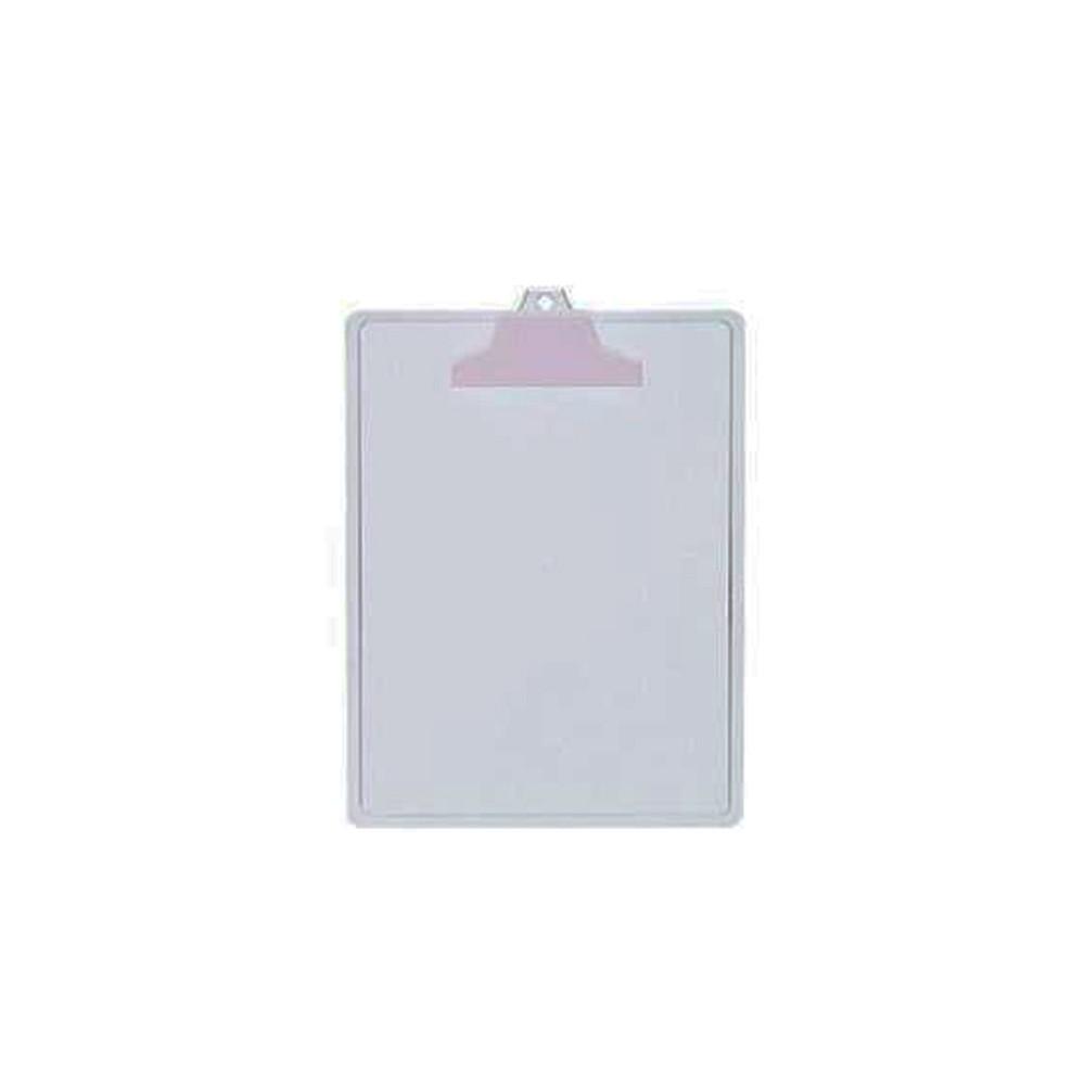 Prancheta Plástica para Folhas A4 Branca  - Casa do Roadie