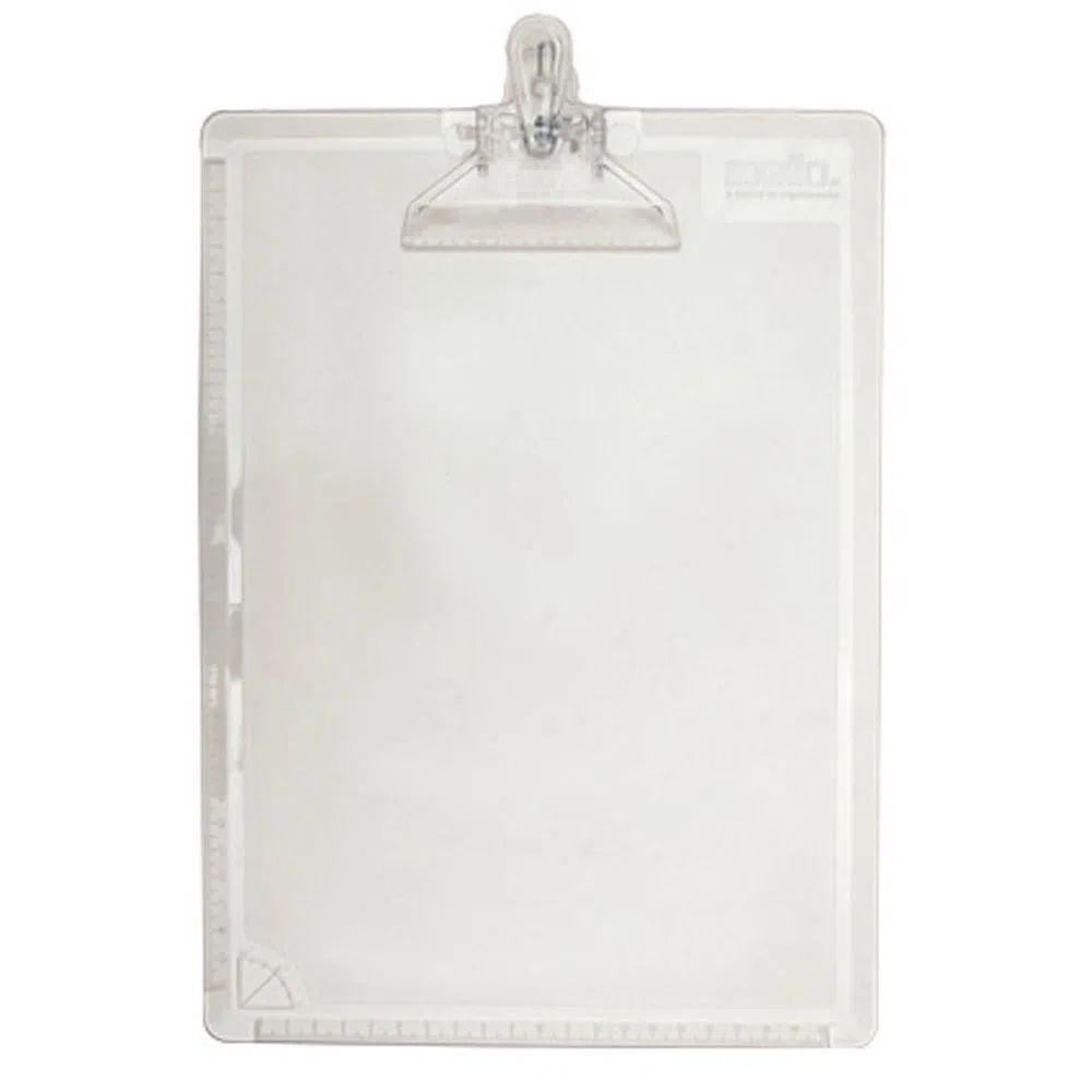 Prancheta Plástica para Folhas A4 Transparente  - Casa do Roadie