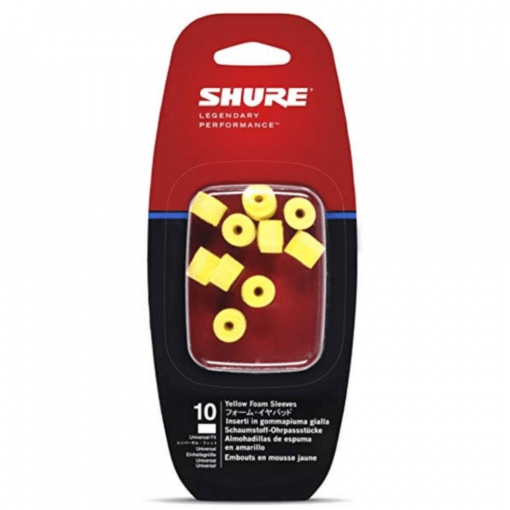 Protetor de Espuma para Fone EAYLF1-10 Shure Amarelo 10 Unidades