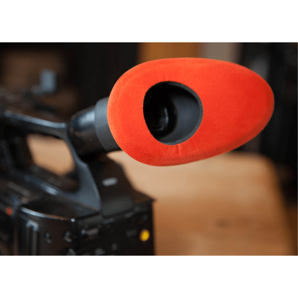 Protetor Ocular Eyecushion Oval Extra Largo Bluestar Ultrasuede Vermelho  - Casa do Roadie