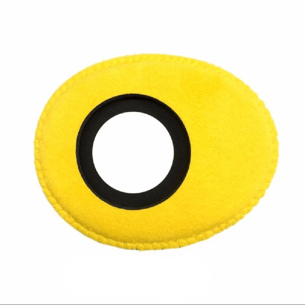 Protetor Ocular Eyecushion Oval Largo Bluestar Ultrasuede Amarelo  - Casa do Roadie