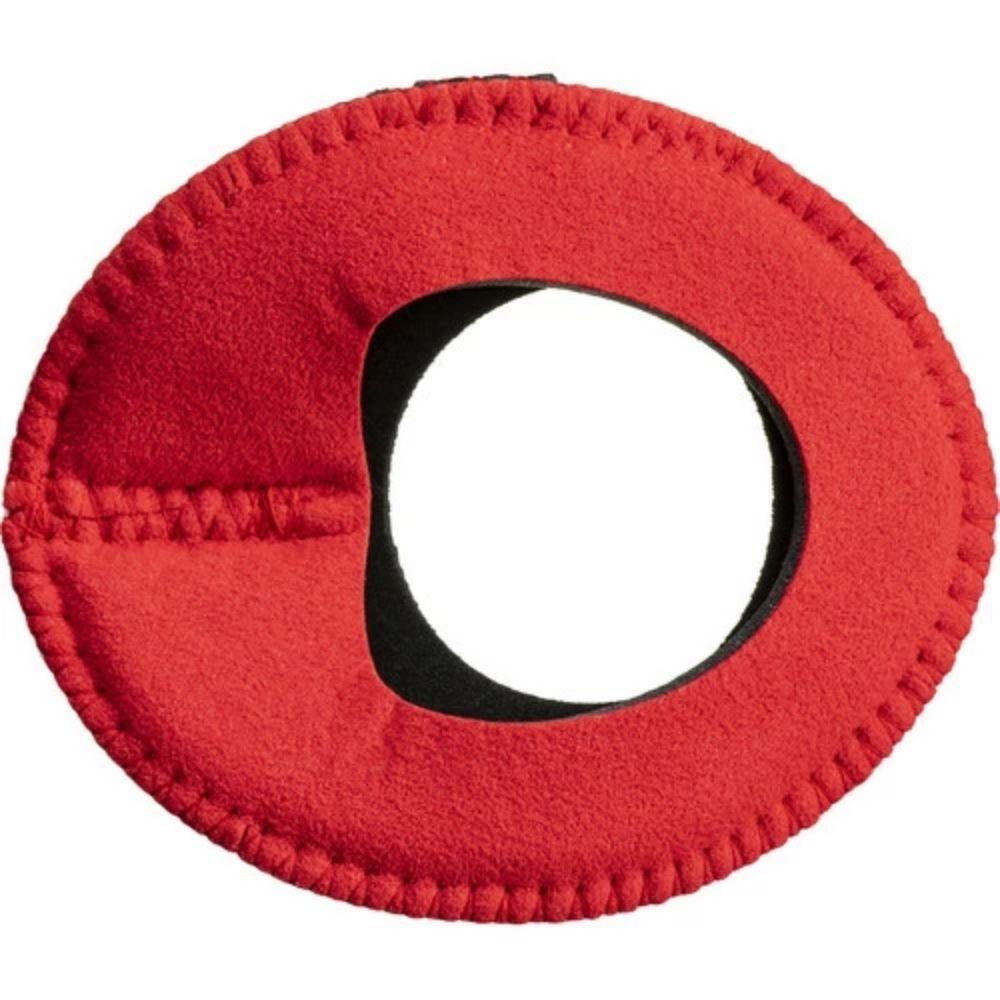 Protetor Ocular Eyecushion Oval Largo Bluestar Ultrasuede Vermelho