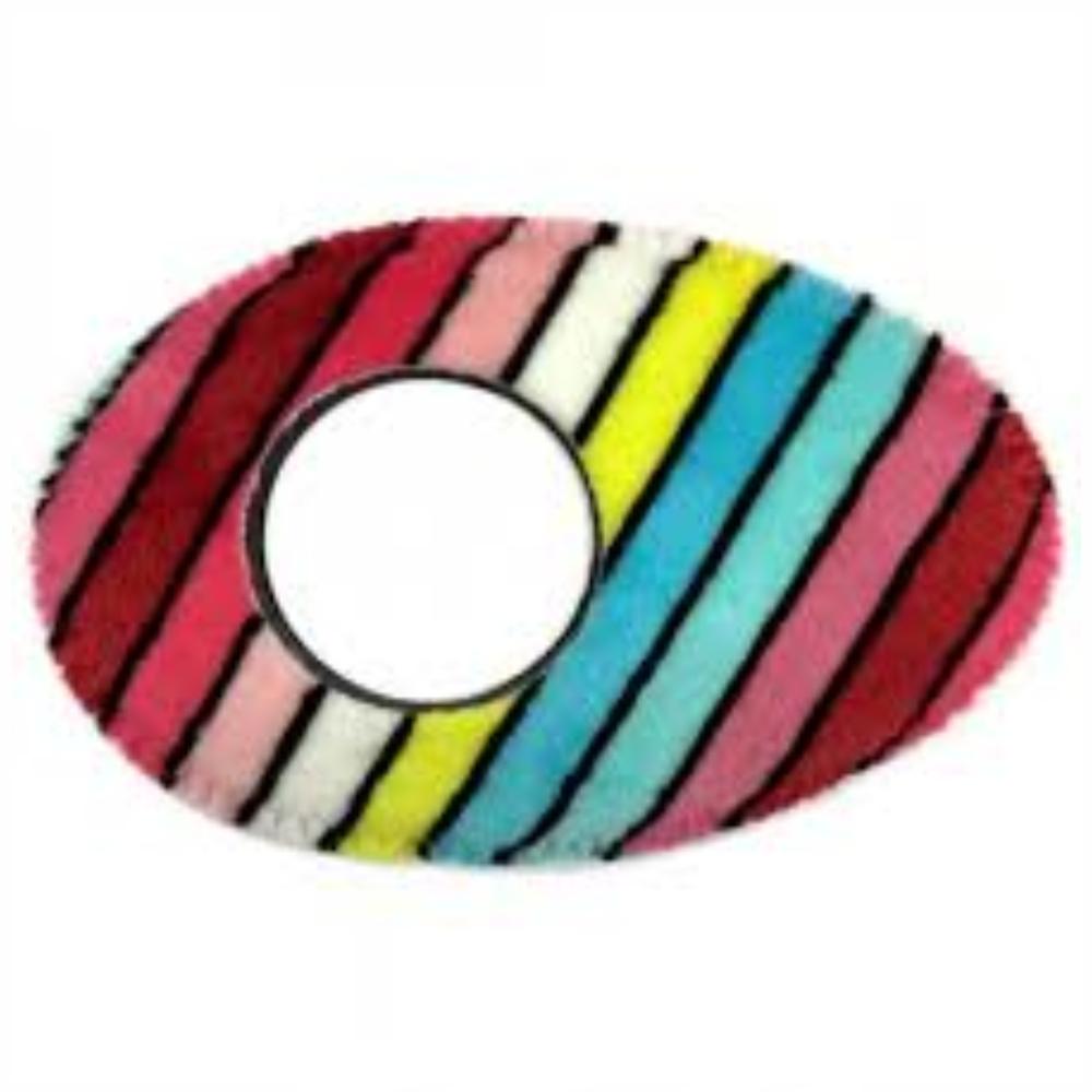 Protetor Ocular Eyecushion Oval Longo Bluestar Fleece Listrado Colorido  - Casa do Roadie