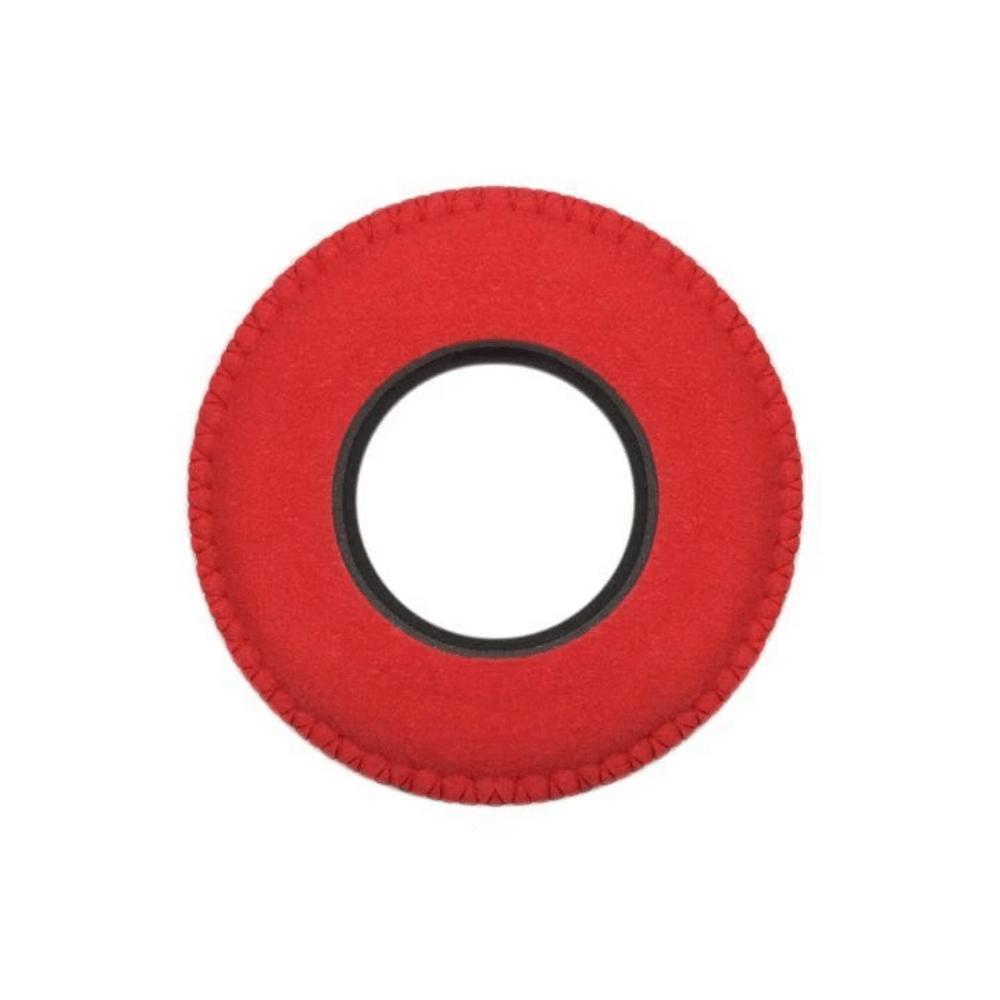 Protetor Ocular Eyecushion Redondo Largo Bluestar Ultrasuede Vermelho  - Casa do Roadie