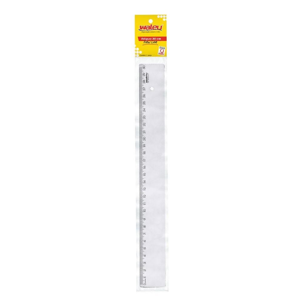 Régua Cristal Waleu 30cm