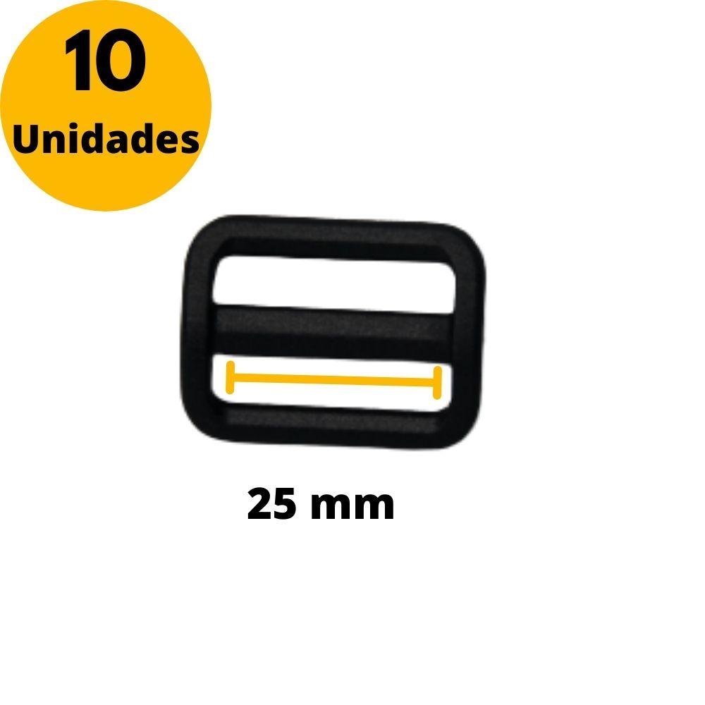 Regulador de Nylon para fitas 25mm YKK - Kit com 10 Unidades