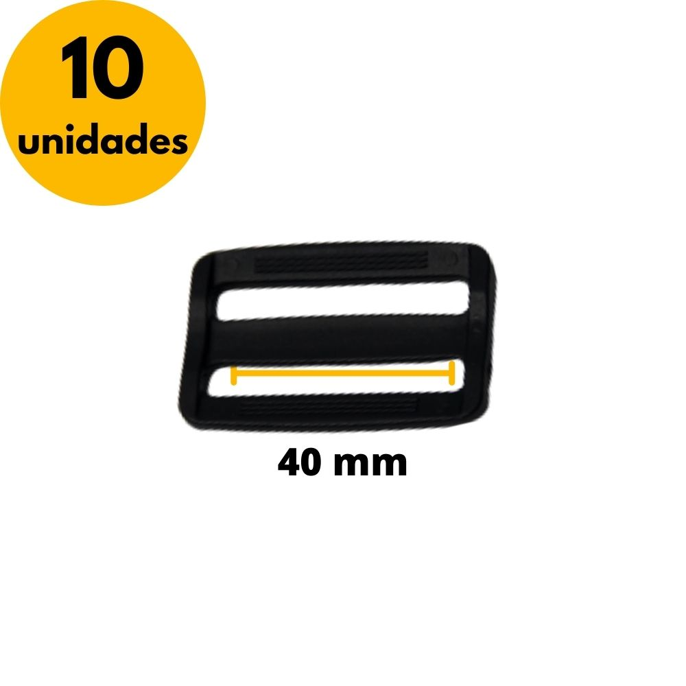 Regulador de nylon para fitas 40mm - Kit com 10unidades