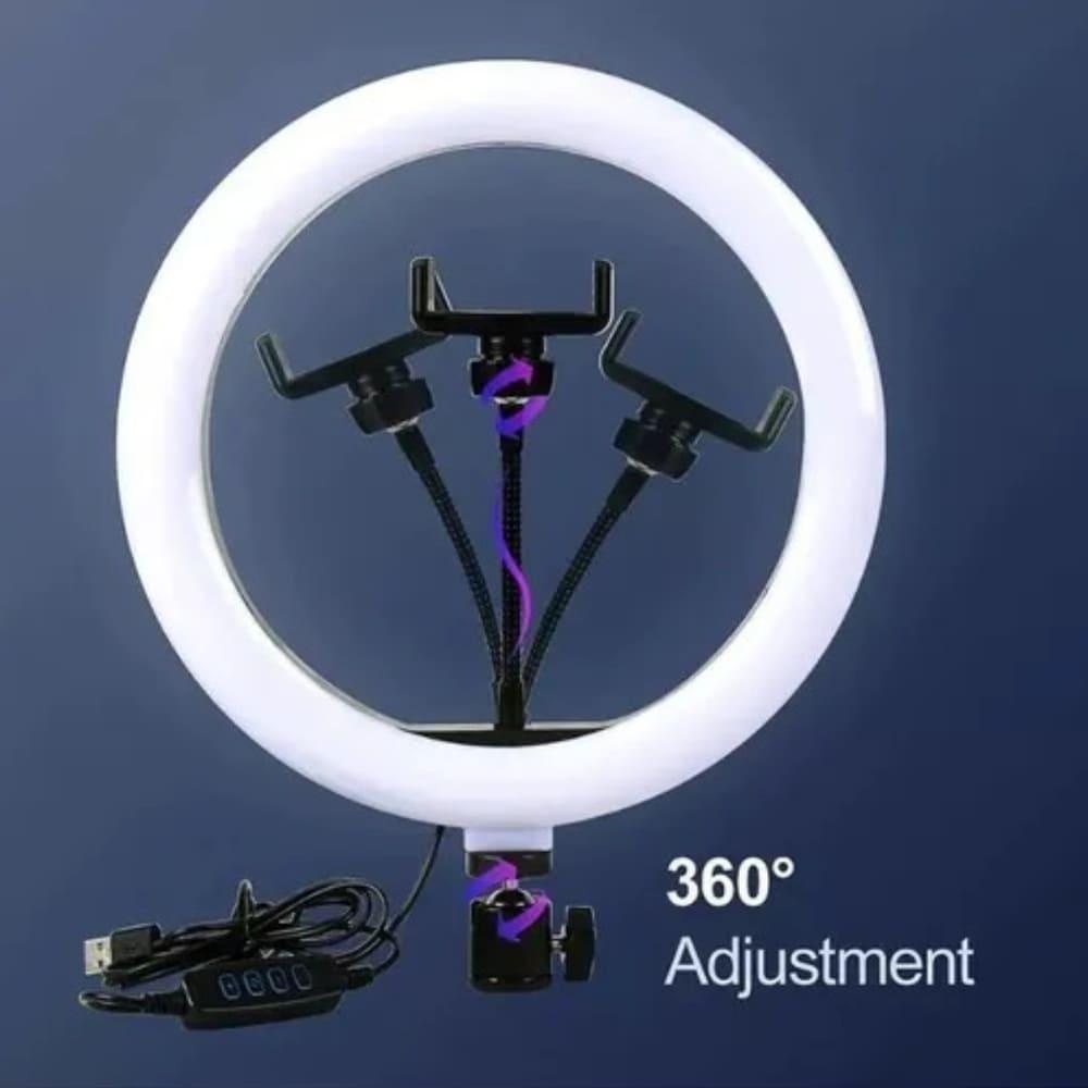 Ring Light 26cm com Tripé e Suporte Celular