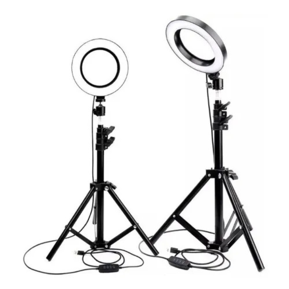 Ring Light 26cm com Tripé e Suporte Celular  - Casa do Roadie