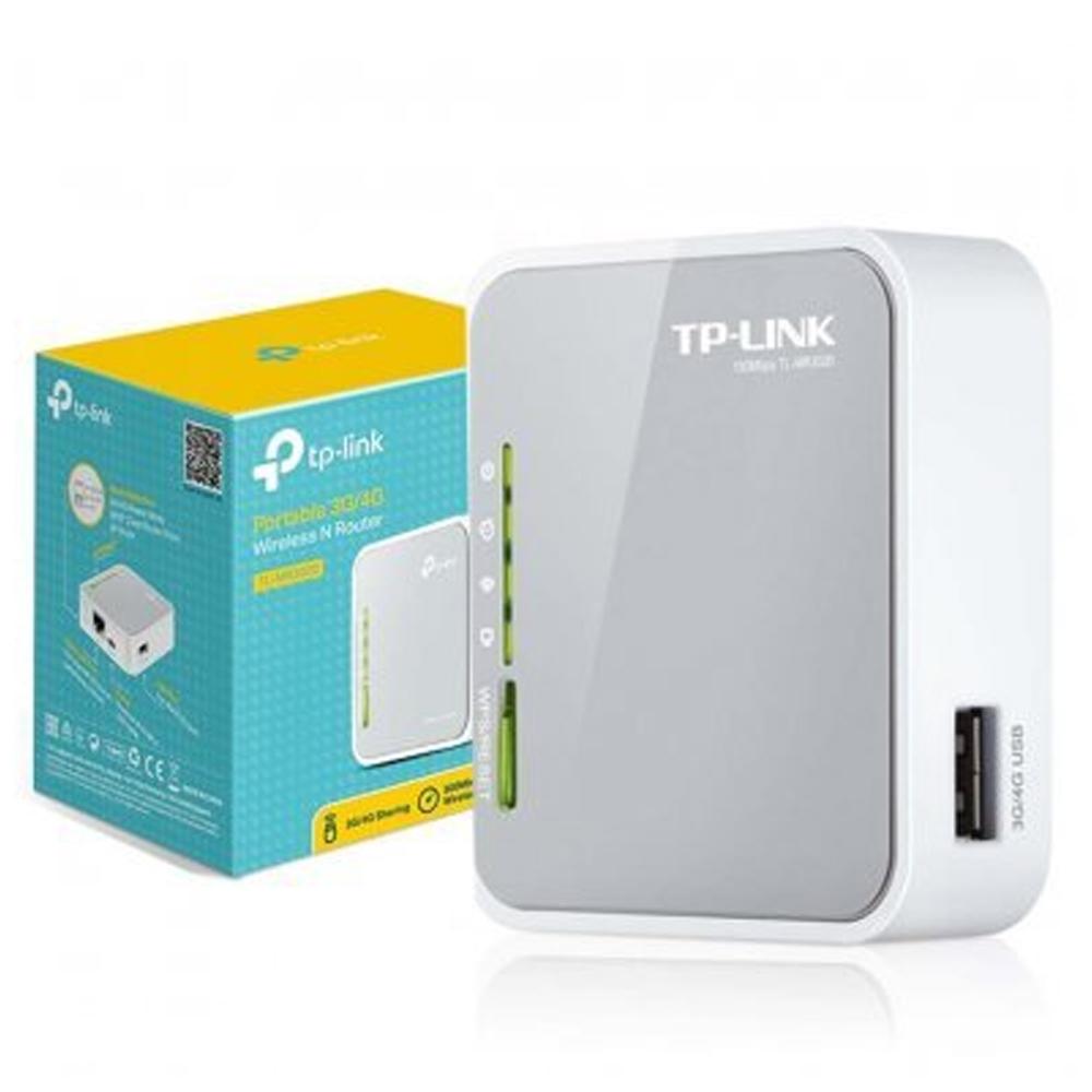Roteador 3G/4G TL-MR3020 TP-LINK  - Casa do Roadie