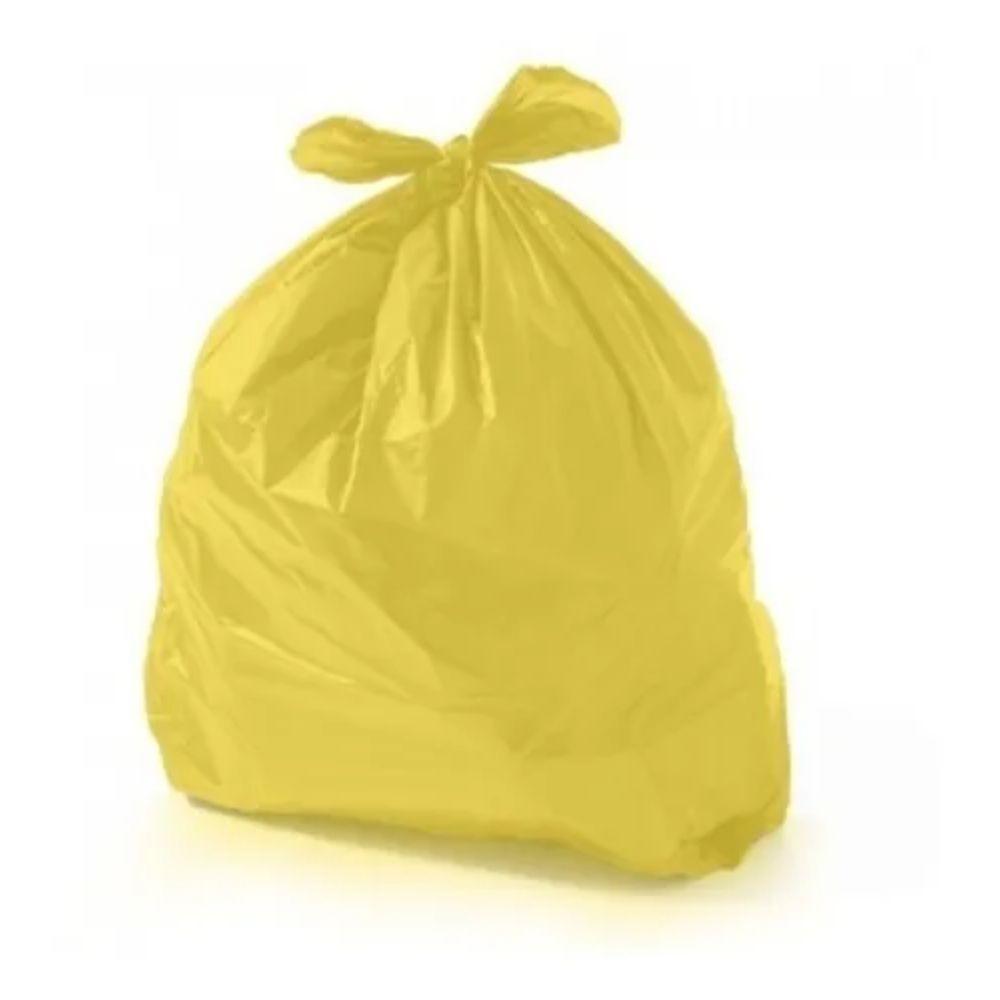Saco de Lixo 100L Amarelo - com 25 Unidades
