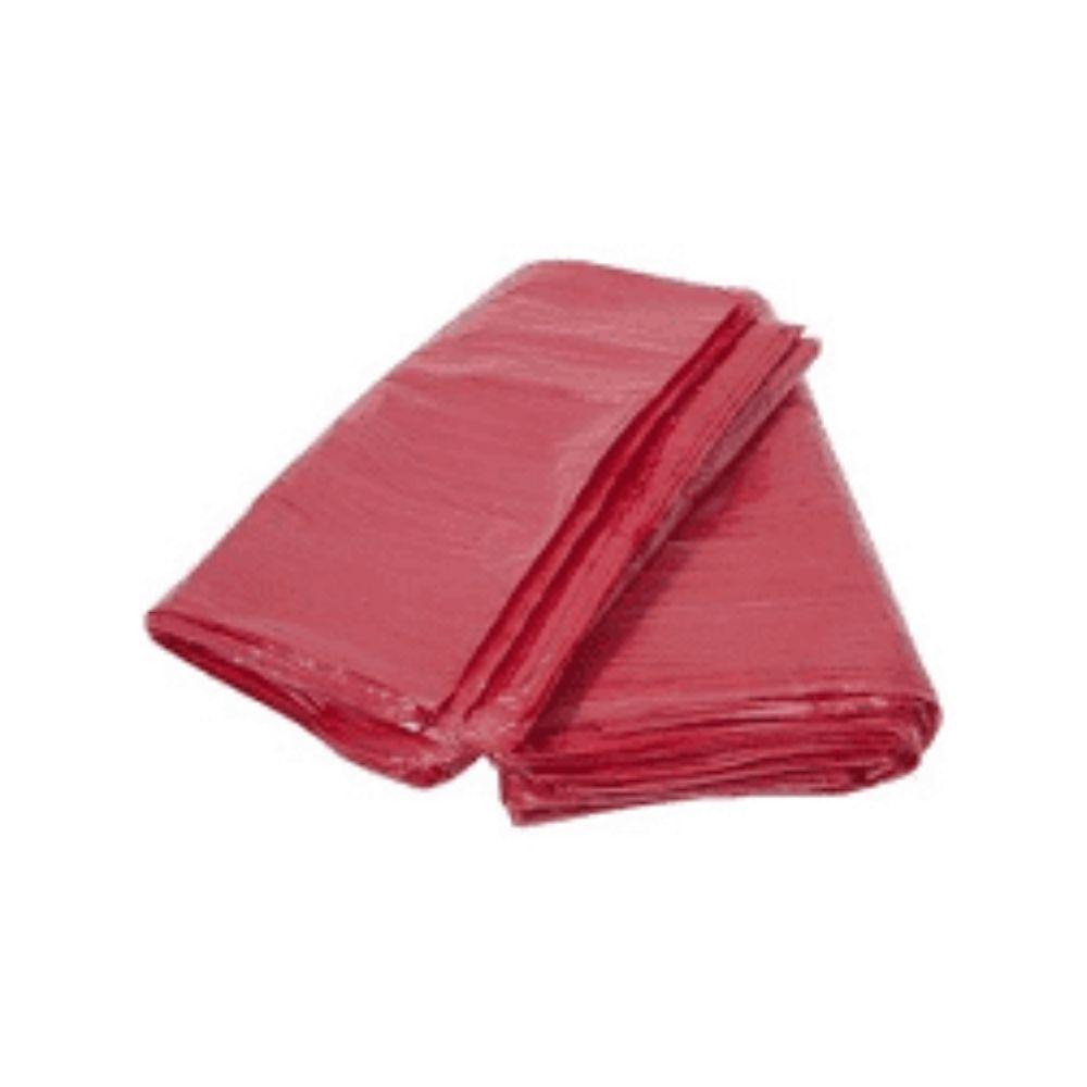 Saco de Lixo 100L Vermelho - com 25 Unidades  - Casa do Roadie