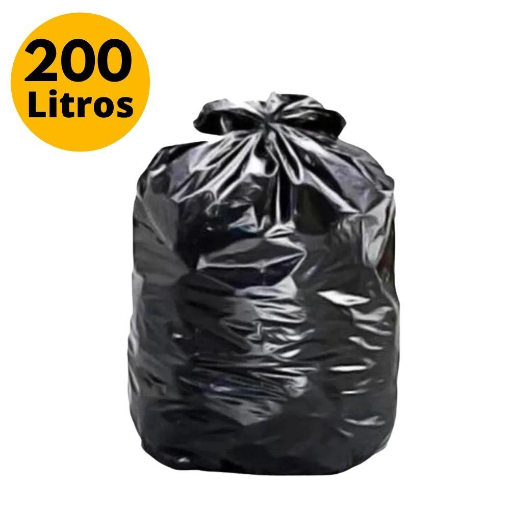 Saco de Lixo 200L Preto 5kg - 100 Unidades