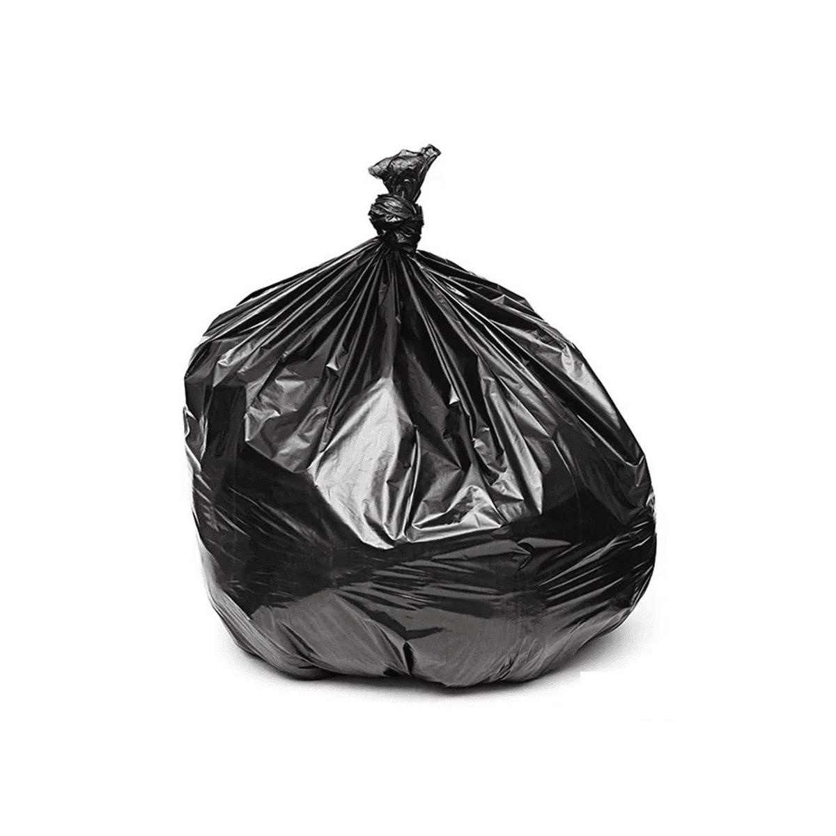Saco de lixo 60L intermediário preto - 100 unidades  - Casa do Roadie