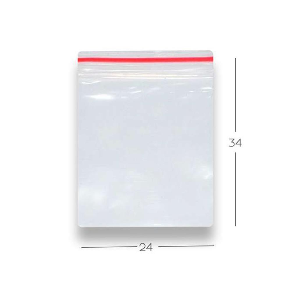 Saco Zip Lock N10 24cm X 34cm Transparente