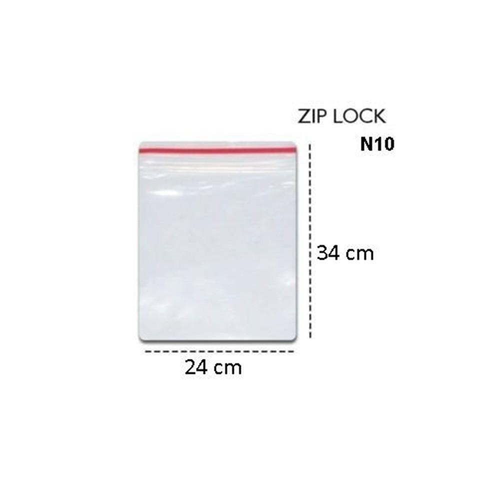 Saco Zip Lock N10 24cm X 34cm Transparente  - Casa do Roadie