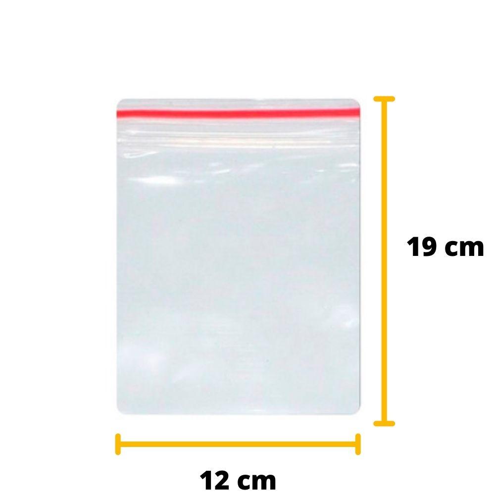 Saco Zip Lock N6 12cm X 19cm Transparente - 100 unidades