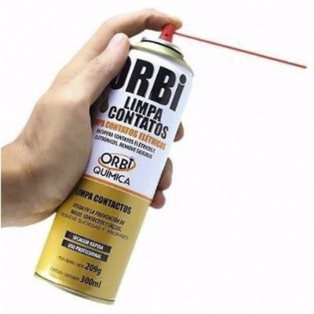 Spray de Secagem Rápida Limpa Contato Orbisil 300 ml