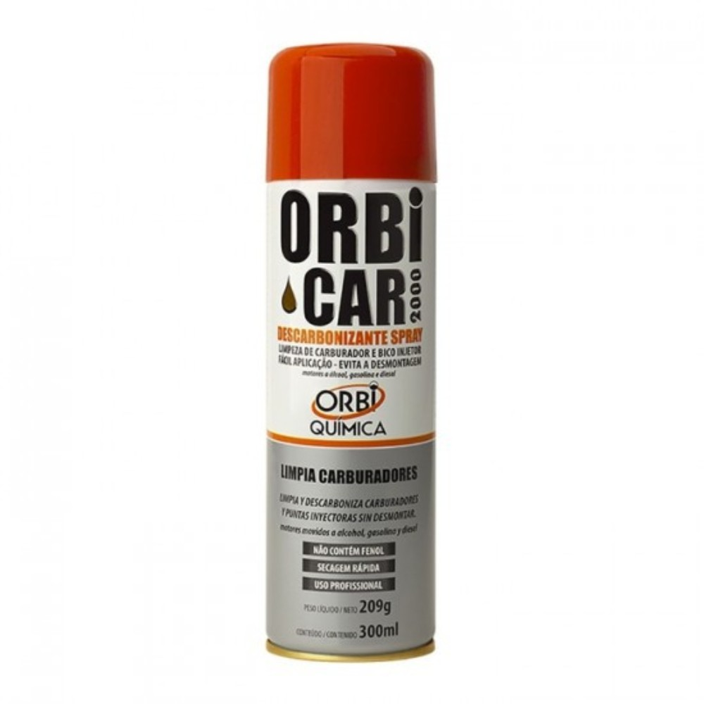 Spray Descarbonizante Orbi Car 2000 Orbisil 300 ml