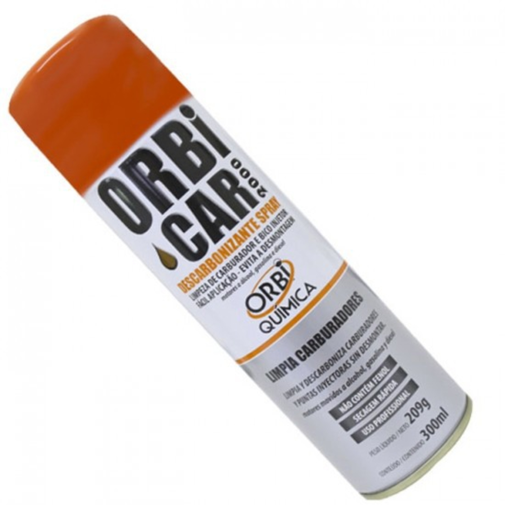 Spray Descarbonizante Orbi Car 2000 Orbisil 300 ml  - Casa do Roadie
